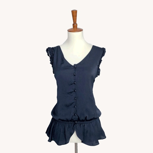 Anthropologie Tops - Blue Peplum Top